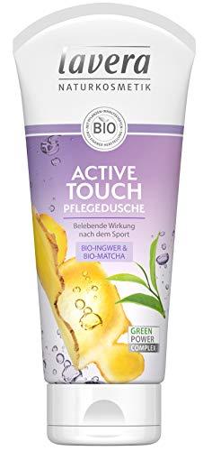 lavera Active Touch Bio Ingwer & Bio Matcha ∙ stimulerende werking ∙ veganistische biologische werkzame stoffen natuurlijke cosmetica natuurlijke & innovatieve douchegel set van 2 (2 x 200 ml)