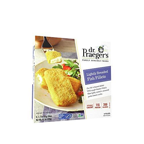 Dr Praegers Lightly Breaded Fish Fillet, 10.2 Ounce -- 6 per case.