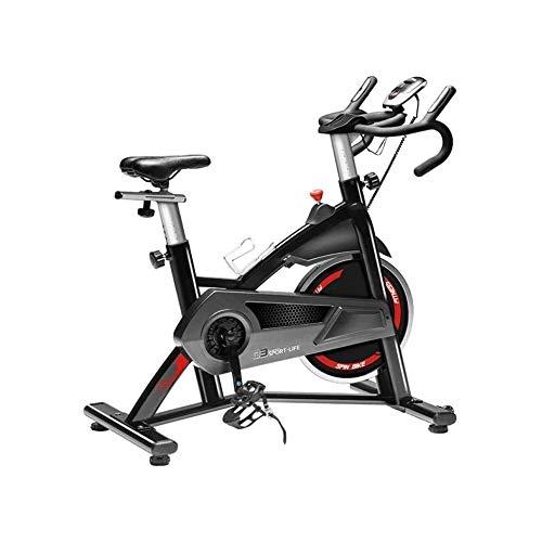 FQCD Ciclismo Indoor Bicicleta estacionaria Inicio Ajustable silenciosa Bicicleta estática con Pantalla LCD Digital y Rueda en Movimiento