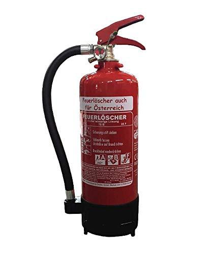 NEU 2 L Fettbrand Schaum Feuerlöscher auch für Österreich DIN EN 3 GS, 8 A, 70 B, 25 F + Standfuß + Manometer (Ohne Prüfnachweis u. Jahresmarke)
