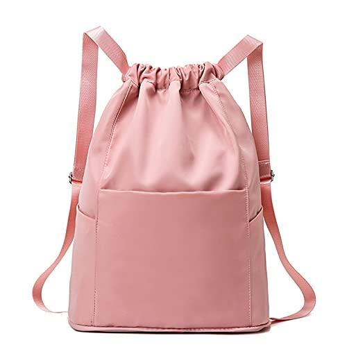 Borsa da viaggio multifunzionale per il fitness - Zaino sportivo ricamato, borsone da viaggio portatile leggero in tessuto Oxford impermeabile del pacchetto impermeabile di grande capacità (B,pink)