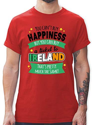 St. Patricks Day - A Ticket to Ireland - schwarz - XL - Rot - St. Patrick's Day - L190 - Tshirt Herren und Männer T-Shirts