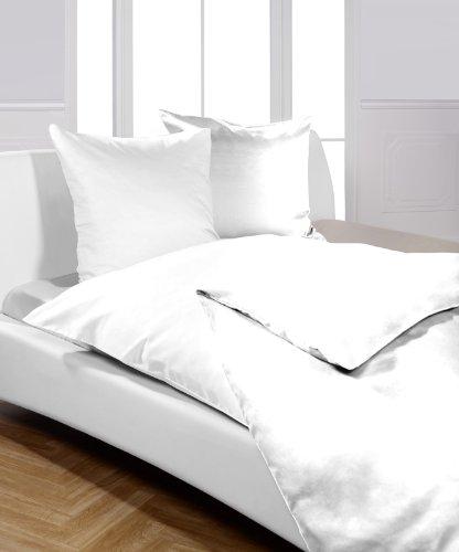 Moon Bettwäsche/Hotelbettwäsche Linon weiß Serie Reißverschluss-155x220