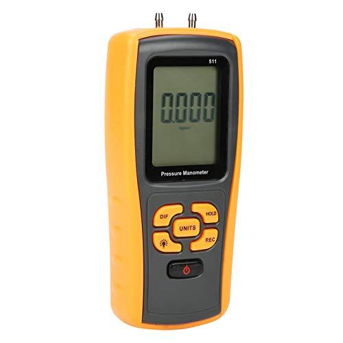Manómetro, Medidor de Presión Diferencial Profesional de Mano Manómetro Tester ± 10KPa para Medición del Sistema de Aire Condición