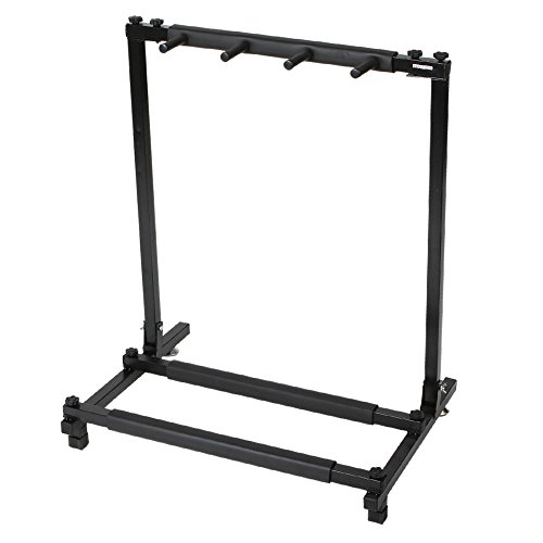 Kuyal Guitar Stand,Multi-Guitar Display Rack Folding Stand Band Stage Bass Acoustic Guitar, Black (7 Holder)