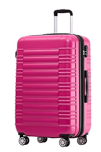 BEIBYE 2088 Zwillingsrollen Reisekoffer Koffer Trolleys Hartschale M-L-XL-Set in 13 Farben (Peach, M)