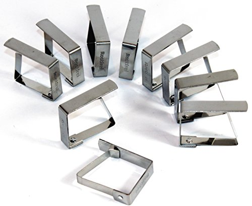 K&B Vertrieb Tischtuchklammer Edelstahl 4 Stück Tischdeckenklammer Tischdeckenhalterung Tischklammer Tischtuchklammern 470