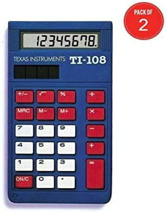 $119 » Texas Instruments TI-108 Solar Power Calculator/Teacher's Kit (Pack of 2, Set of 10 in Each Pack)