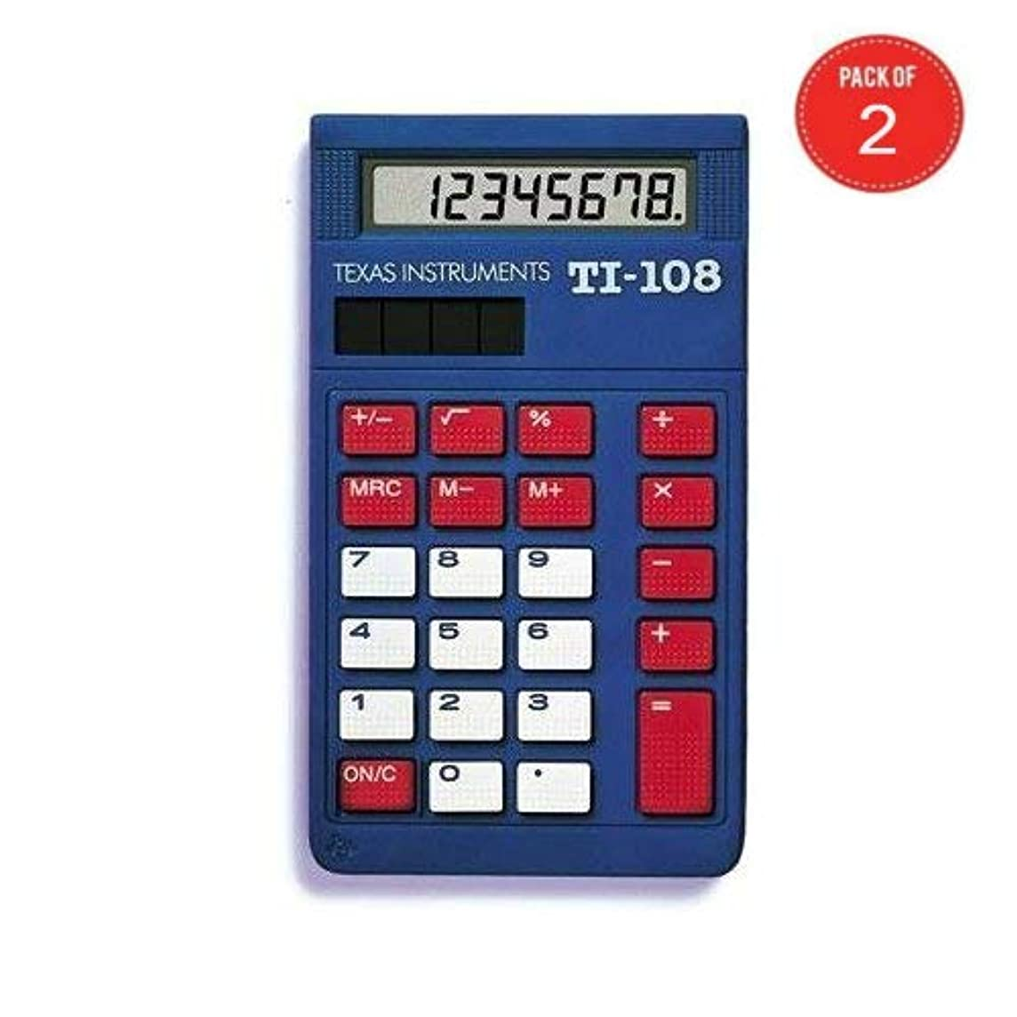欲しいです返還受信機Texas Instruments TI-108 ソーラーパワー電卓/教師キット (2個入りパック)