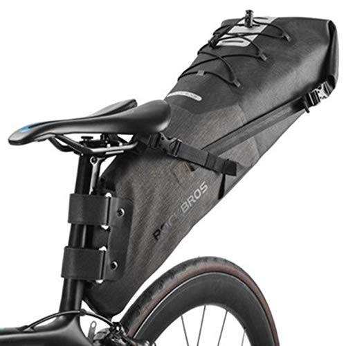 LMIAOM 10L Impermeable Cola for Bicicleta Saddle Bag Reflectante Trasero Plegable Bolsa de Bicicletas Mochila Herramienta de reparación de Piezas de Accesorios (Color : 01)