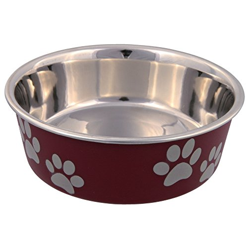 TRIXIE Hundenapf/Fressnapf aus Edelstahl, mit Kunststoffbeschichtung