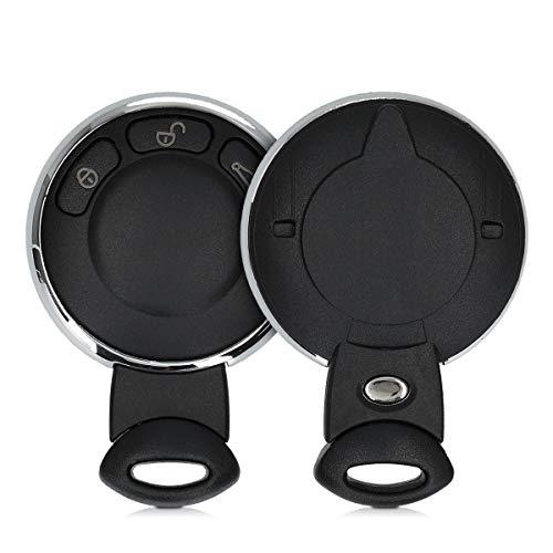 kwmobile Cover Copri-Chiave Compatibile con Mini con 3 Tasti Smart Key -Guscio di Ricambio Chiavi Auto - Custodia Protettiva Telecomando