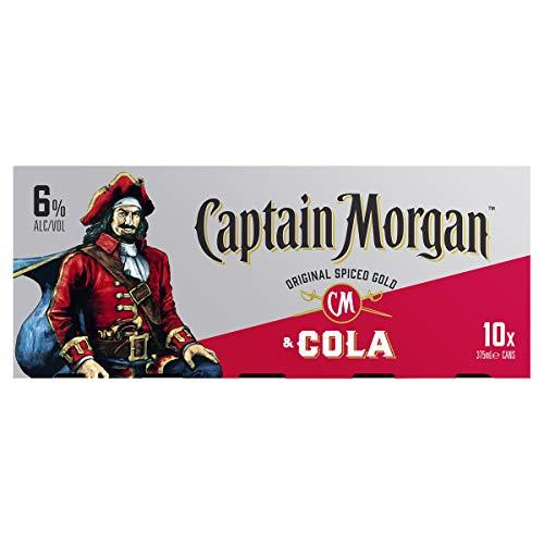 Captain Morgan Original Spiced Drink & Cola 375 ml (Pack Of 10)
