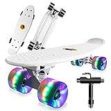 Saramond Skateboard komplett 55 cm Mini-Cruiser Retro-Skateboard...