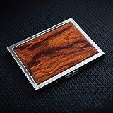Hombres de Acero Inoxidable Ultrafino portátil Personalidad Creativa Retro Delicada Caja de Cigarrillos de Madera Maciza-Oro