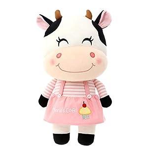 Lewpox Vaca de Peluche de Animales, Juguetes de la muñeca de la Historieta, pequeño Becerro de Juguete mimoso de la Granja 22 cm, pantorrillas de Juguete de Peluche
