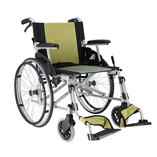 aedouqhr Carro Scooter Plegable Ligero Manual para Personas Mayores Aleación de Aluminio Ensanchamiento y profundización del Asiento