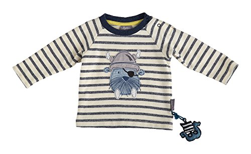 Sigikid Sigikid Baby-Jungen Sweatshirt, Weiß (Egret 77), 68