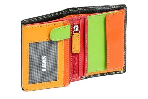 LEAS Mini-Kombibörse mit Riegel im Hochformat Echt-Leder, bunt Multicolore-Serie