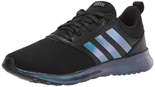 adidas Men's QT Racer 2.0 Running Shoe, Black/Black/Metallic, 9