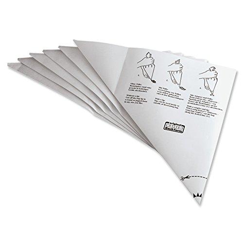 Kaiser Classic Einweg Spritzbeutel 6 Stück, Einwegspritzbeutel kunststoffbeschichtetes Spezialpapier, hygienische Einmalanwendung, Schneidehilfslinie