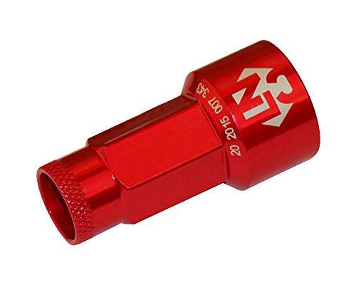 Foliatec 37202 LugNuzzCover 20er Set, Schlüsselweite, Rot Eloxiert, 17 mm