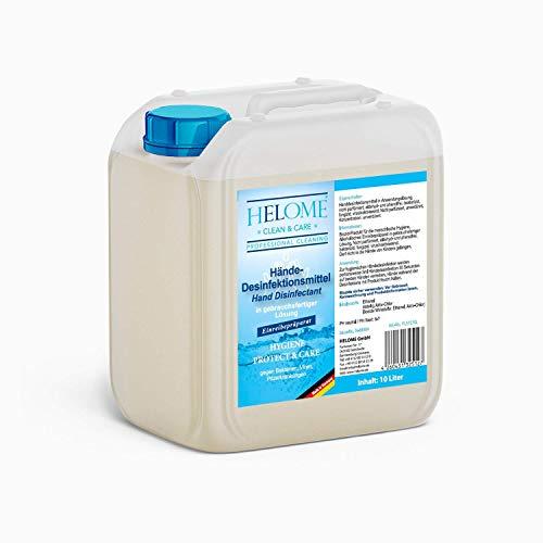 Helome Hände-Desinfektionsmittel 10L - Made in Germany - gegen Bakterien, Pilze und Virenerkrankungen