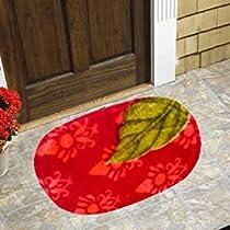 IVAZA Solid Polyester Door Mat Bathmat (Multi Color Set of 1)