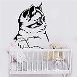 Etiqueta engomada de la pared del gato del estilo europeo adornos decoración de la pared de la habitación de los niños vinilo art deco etiqueta de la pared A4 XL 57x75cm