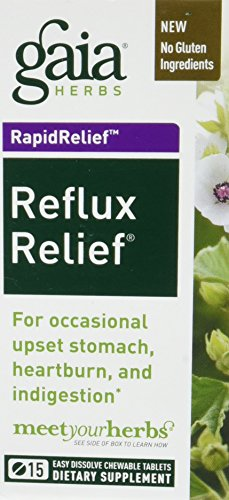 Gaia Herbs, Reflux Relief Chewy Tablets, 15 Count