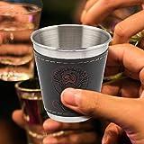 LZKW Juego de Tazas de café expreso, 4 Piezas de Acero Inoxidable, Tazas de Vino de Acero Inoxidable, Taza de café, Vasos...