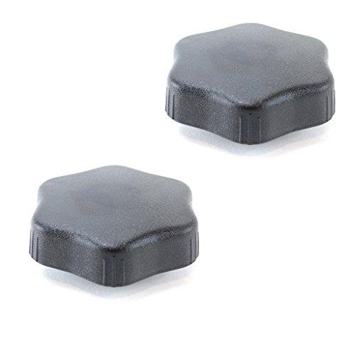 2 molettes de réglage pour dossier de siège
