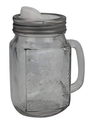 Ard'time DET-4ROND Lot de 4 couvercles ergonomiques spécial Drinking Jar, Plastique, Gris et Blanc