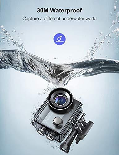 Crosstour Action Camera Full HD Wi-Fi 14MP PC Webcam Waterproof Cam 2