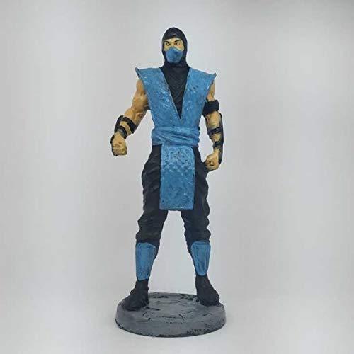 Boneco Mortal Kombat Sub Zero Azul Allipe Estátua Resina 18CM