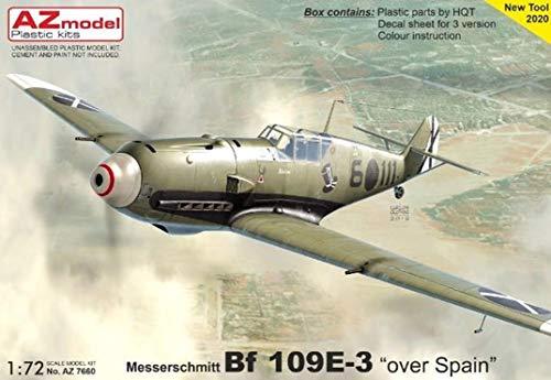 AZモデル 1/72 ドイツ空軍 メッサーシュミット Bf109E-3 コンドル軍団 スペイン上空 プラモデル AZM7660