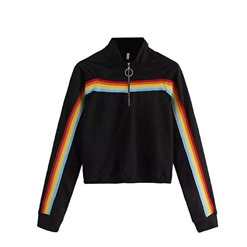 Adelina herfst winter daily stijl dames lange mouwen gestreepte crop hoodie sweatshirt jumper modieus complex volleybal fietsen slank met capuchon pullover top