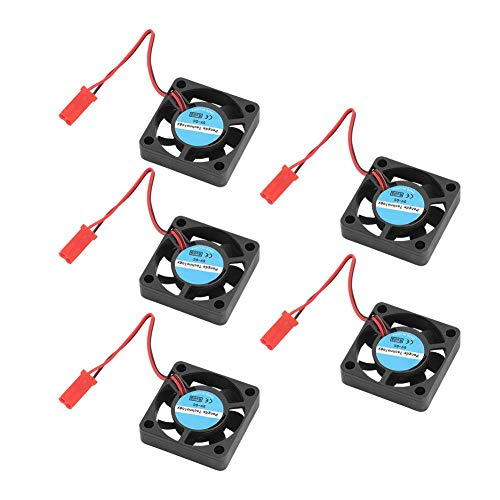 ASHATA 3D Printer Cooling Fan,DC 5V 3D Cooling Fan 8500RPM 4CFM High-speed Mini Cooling Fan 3D Printer Parts (5 Packs)