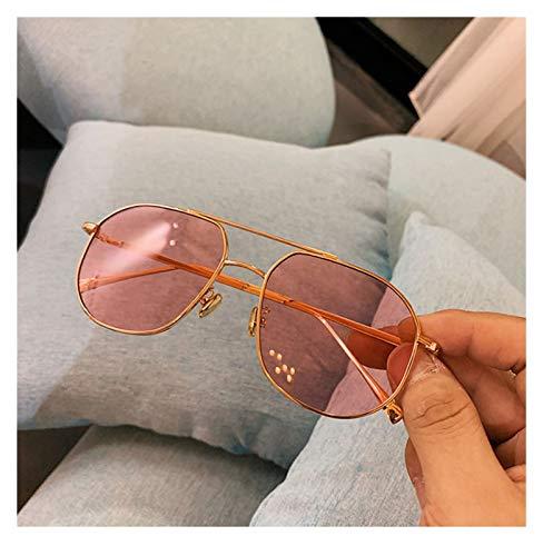 SSN Aviator Style Retro Caja Gafas De Sol Femenina Versión Coreana De Las Gafas De Visión Nocturna Amarilla Clásica De Los Hombres De Moda, Gafas De Sol Gafas De Sol (Color : D)
