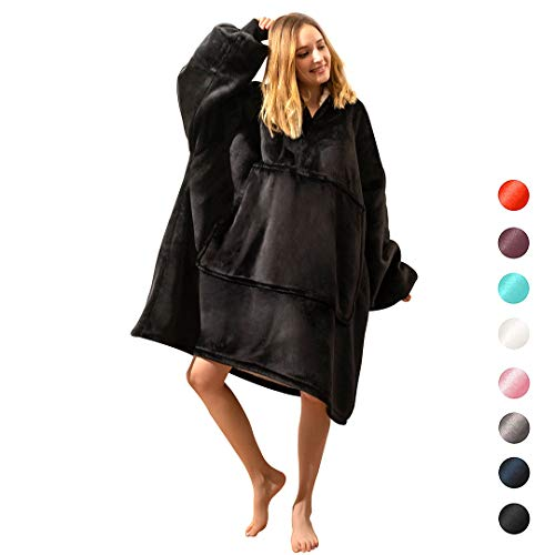 Oversided Blanket Sweatshirt,Comfortable Giant Hoodie for Women Men Kids,One Size Sherpa Giant Sweatshirt Blanket, Ultra-soft Warm Cozy Oversized Hoodie, Reversible Oversided Hoddie Blanket Sweatshirt