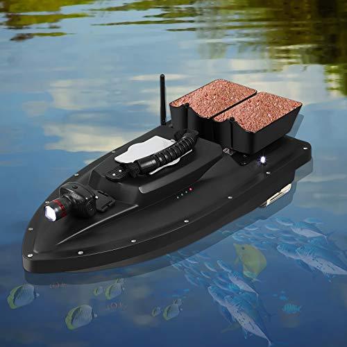 Elikliv Fishing Bait Boat, Dual Motor Fish Finder Ship Boat with LED...