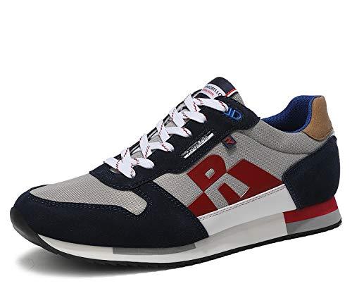 ARRIGO BELLO Zapatillas Deportivas Hombre Running Zapatos Vestir Casual Transpirables Sneakers Gimnasio Correr Tamaño 40-46 (41 EU, Azul)