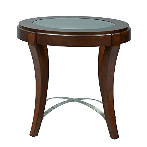 Liberty Furniture Industries Avalon Oval End Table, W28 x D25 x H24, Dark Brown