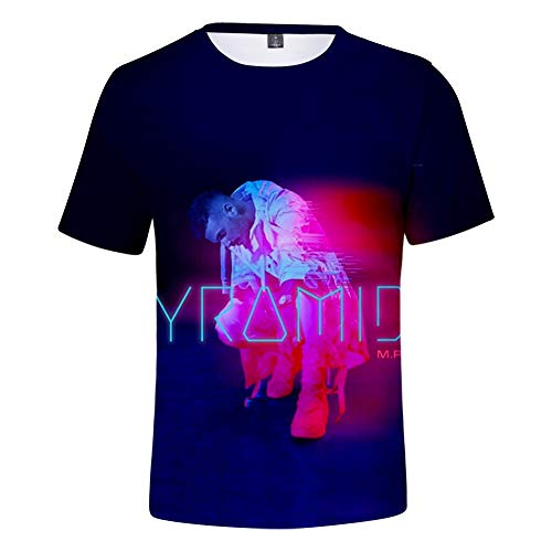 De.Pommeyeux M. Pokora T-shirt High Street Coton Hip Hop à manches courtes - - XXL