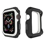 PZZZHF Funda Protectora de la Carcasa para iWatch Series 6 SE 5 4 3 2 1 PC para la Cubierta de Silicona PC Bumper para Apple Watch 44mm 40mm 42mm 38mm Nuevos Accesorios