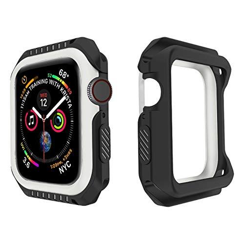 Flyuzi Funda Protectora de la Carcasa para iWatch Series 6 SE 5 4 3 2 1 PC para la Cubierta de Silicona PC Bumper para Apple Watch 44mm 40mm 42mm 38mm Nuevos Accesorios