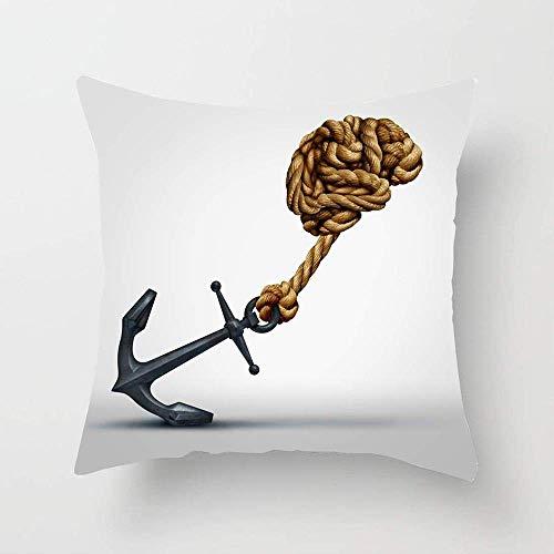 Creativo Fuerza del cerebro Cuerdas grupales Educación en forma Atención médica Médica Ancla de mente lenta Funda de almohada cognitiva Funda de almohada de algodón Sofá Cama Funda de cojín De