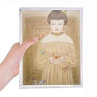 バタフライドレスの美しさの中国絵画 硬質プラスチックルーズリーフノートノート