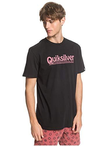 Quiksilver New Slang - Camiseta para Hombre Screen tee, Hombre, Black, M