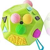 Juguetes de Cubo de 12 Lados, Cubo de descompresión con Dedo sensorial, Juguetes para aliviar el estrés y la ansiedad para niños y Adultos con Autismo
